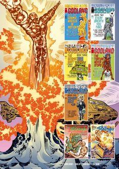 Godland 4èmè de couv_Album à tirage limité réunissant les cinq premiers épisodes de Godland. En bonus les couvertures US et Strange.