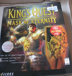 King's Quest: Mask of Eternity PC Big Box Game BONUS HINT BOOK WIN 95 CD #Sierra