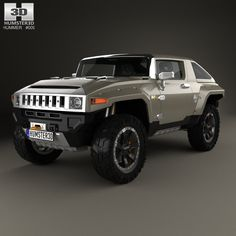 Hummer HX 2008 3d model from humster3d.com. Price: $75