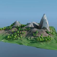 Low poly landscape:
