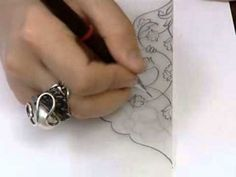 tezhip nasıl çizilir RUMİ desenler ve orta bağların kullanımı yeni anlatım - YouTube