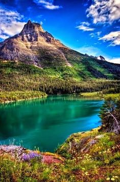 The region that became Glacier National Park was first inhabited by Native Americans and upon the arrival of European explorers, was dominated by the Blackfeet in the east and the Flathead in the western regions.