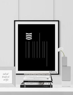 Minimalist print printable art print Scandinavian by ArtFilesVicky Black And White Prints, Black White, Printable Art, Printables, Film Studio, Scandinavian Art, Minimalist Art, Arrows, Artwork Prints