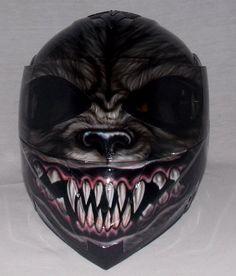 Custom helmet Custom motorcycle helmet Superbike by skull2210