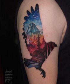 Lukovnikov bird tattoo