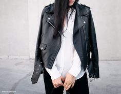 All I dream of is this amazing biker leather jacket by ACNE.... Too beautiful to function!