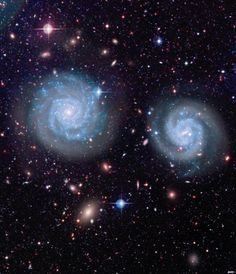 Galaxies & Co. (NGC 4411a-b) April 4, 2014  Canada-France-Hawaii Telescope / Coelum