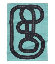Turquoise/car track. Rug in cotton fabric with a printed