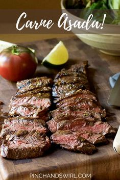 Jun 2018 - With a simple Carne Asada Marinade with fresh citrus juices and spices, you can make the most delicious Carne Asada recipes! Throw Carne Asada on the grill / BBQ and in less than 15 minutes you'll have dinner! Grilling Recipes, Beef Recipes, Mexican Food Recipes, Dinner Recipes, Cooking Recipes, Carne Asada Recipes Easy, Skirt Steak Recipes, Recipes With Flank Steak, Bottom Round Steak Recipes