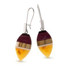 Amberwood earrings for W.KRUK
