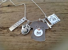 Baseball Mom / Grandma necklace sports fan by tagsoup on Etsy, $30.00