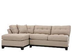 Cindy Crawford Metropolis 2-pc. Microfiber Sectional Sofa