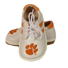 Clemson Tiger Boys Squeak Shoes...great way to keep up with little ones in a crowd