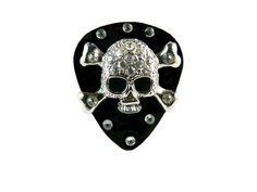 Crossbone Guitar Pick Adjustable Ring