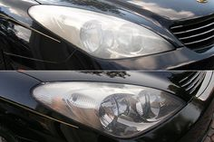 Here are some cleaning DIY car hacks to make your cars look as new. to Clean Your Car Headlights Use this intelligent DIY method to crystal clean your car lens, not only making your car fron… Cleaning Headlights On Car, How To Clean Headlights, Car Headlights, Polish Headlights, Headlight Cleaning, House Cleaning Tips, Car Cleaning, Diy Cleaning Products, Vape Tricks