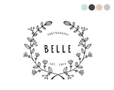 Handdrawn Floral Logo Design by crooked little pixel
