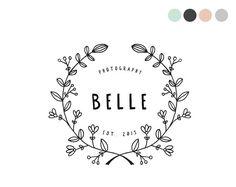 Handdrawn Floral Logo Design by crooked little pixel