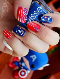50 Patriotic Mani Ideas For The 4th OfJuly - Style Estate -