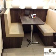 Banco Booth em Capitanê Acento Estofado Varias Cores R$ 871,20 - Fabrica MesasBares (11) 2768-2639