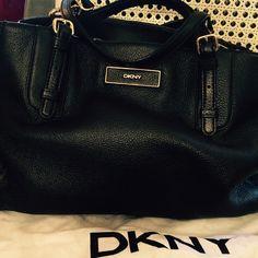 Dkny handbag Dkny handbag black leather, gold hardware brand new DKNY Bags Shoulder Bags