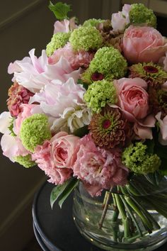 Love pink flowers-dahlia,zinnia,rose and eustoma