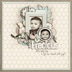 """Photo from album """"Sweetly Blooming"""" on Yandex. Page Layout, Layouts, Scrapbook Pages, Scrapbooking, Views Album, Photo Cards, Baby Boy, Yandex Disk, Bloom"""