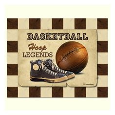 Plaatjes voor mannen on pinterest vintage boys tool box for Vintage basketball wall art