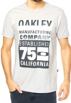 Camiseta MC Oakley Showbill Light Grey - Compre Agora | Dafiti Brasil