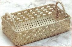 free chart - Simple Rectangular Basket with Handles - Russian chart; I can see making this in a small handful of colors of jute or hemp to use at the dining table - sunt mai multe cosulete cu diagrame* Crochet Bowl, Crochet Basket Pattern, Crochet Motif, Crochet Lace, Crochet Patterns, Crochet Baskets, Crochet Crafts, Crochet Projects, Rectangular Baskets