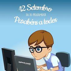 12 de Setembro! Dia do programador  parabéns a todos nós! #diadoprogramador #javascript #wordpress #php #html5 #html #css #css3 #less #webdevelopment #webdesign #development #mac #macbook #imac #programming #webdeveloper #frontend #backend #mysql #mobi #agenciamobi #cascavel  #blogwordpress #lojavirtual #ecommerce #opencart #midiassociais #bootstrap