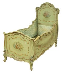 french antique baby crib 1800 s french antiques cot and cots