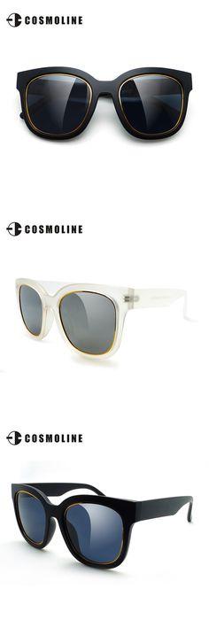 COSMOLINE Women PC Polarized Sunglasses Vintage Women Oversized Sun Glasses gafas de sol for women UV400 with case 6111