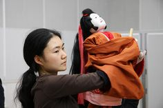 Female Bunraku puppeteer - rare