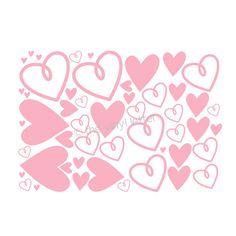 50 - Valentine Hearts Vinyl Wall Decal Valentine's Day Heart Decor. $14.99, via Etsy.