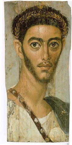 Fayum-portrait, Egypt under the Roman empire, 100-300 AD.