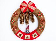 Home Christmas wreath, Front Door Wreath, Outdoor Wreath Christmas Holidays, Christmas Wreaths, Christmas Gifts, Christmas Decorations, Outdoor Wreaths, Wreaths For Front Door, Handmade Christmas, 4th Of July Wreath, Doors