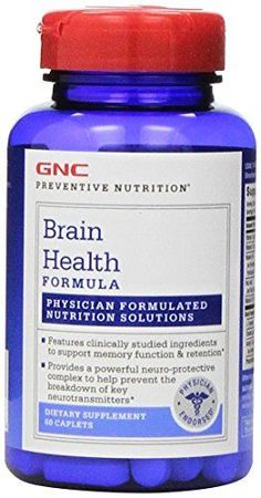 GNC Preventive Nutrition Brain Health Formula 60 Caplets >>> Check this awesome product by going to the link at the image.