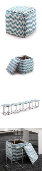Brilliant idea. 5 seats in 1 cube from Resource Furniture