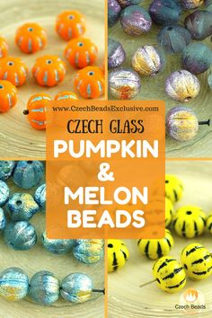 Czech Glass Pumpkin and Melon Beads  Different Colors �- Buy now with discount!  Hurry up - sold out very fast! www.CzechBeadsExclusive.com/+pumpkin SAVE them! ??Lowest price from manufacturer! Get free gift! 1 shipping costs - unlimited order quantity!  Worldwide super fast ?? shipping with tracking number! Get high wholesale discounts! Sold with  at http://www.CzechBeadsExclusive.com#CzechBeadsExclusive #czechbeads #glassbeads #bead #beaded #beading #beadedjewelry #handmade #etsy #dawanda…