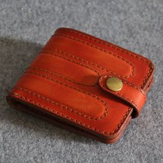 Genuine Leather wallet simple style purseMen's by FocusmanLeather, $56.00