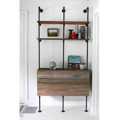 Reclaimed Wood & Pipe Shelving Unit - Mid Century, Modern, Metal, Industrial, Shelf
