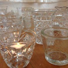 36x Vintage Cut Glass Tea Light Holders Shabby Chic Wedding Decoration | eBay