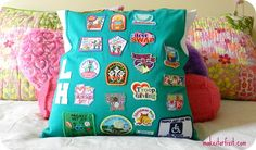 Turn Your Daughter's Girl Scout Vest Into A Pillow - what a great idea, from @sharonfh