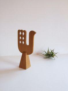 Pájaro sueco de madera folk art// Pájaro madera por tiendanordica, $22.50