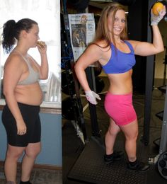 Amazing work by Lacie Gwynn . She tells the true story about eating clean as you see her bigger with a burger and leaner with a clean grapefruit.  #transformation #motivation #drive #commitment #fitness #train