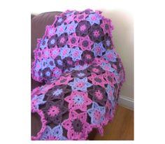 Crochet Granny Square Blanket, Baby Blanket, Granny Square Afghan, Crochet blanket by EvaHandmadeCrafts on Etsy