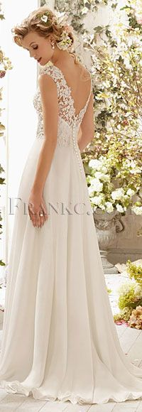 Shop Morilee's Morilee Bridal Alençon Lace Wedding Dress on Delicate Chiffon. Wedding Dresses and Bridal Gowns by Morilee designed by Madeline Gardner. Stunning Alencon Lace Wedding Dress on Delicate Chiffon Lace Wedding Dress, 2015 Wedding Dresses, Wedding 2015, Wedding Wishes, Wedding Gowns, Wedding Day, Dress Lace, Backless Wedding, Chiffon Dress