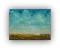 Before Dawn Abstract Ocean Landscape Oil by traceynicholas on Etsy