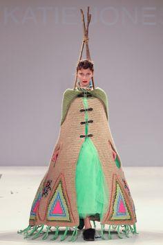 "katiejonesknitwear: "" Central Saint Martin's Press Show 2011- Tipi """