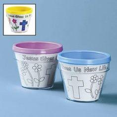 Jesus gives us new life flower pots